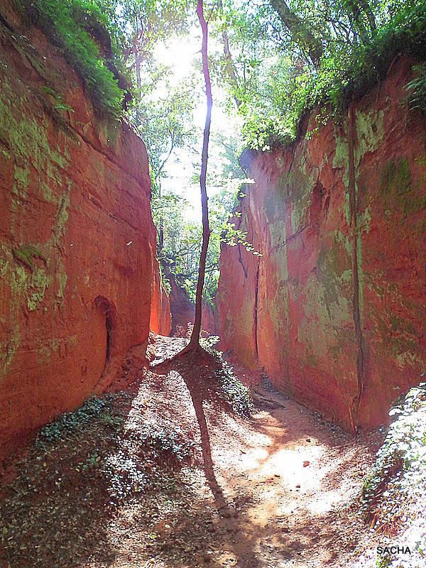 Le ravin du Canyon des Sitos