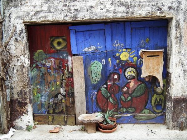 """Portail peint """" St Jean de Fos """""""