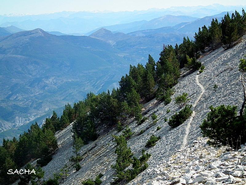 """Mont Ventoux """" chemin des Crêtes GR4 """""""
