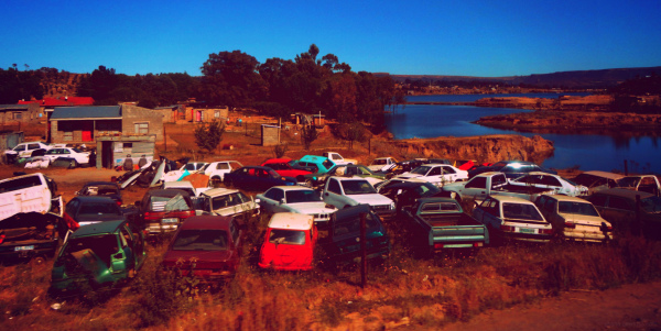 Lesotho cars river