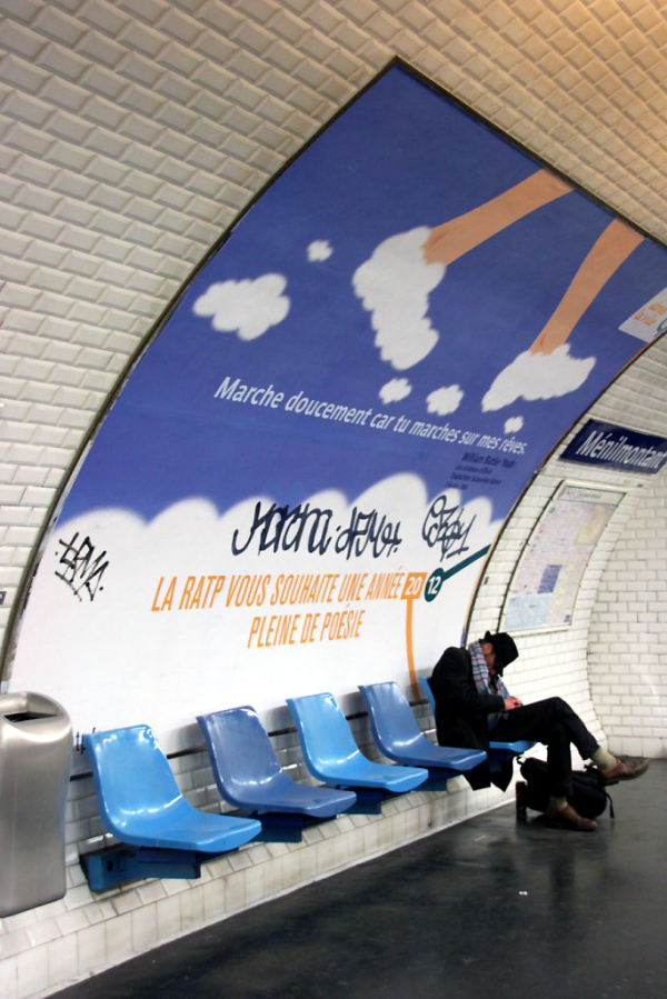 Affiche Paris Métro Message