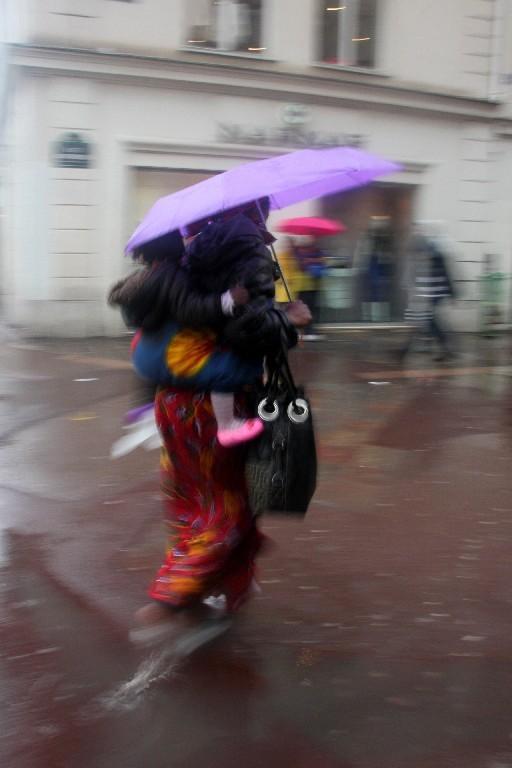 pluie, paris, rue, parapluie,