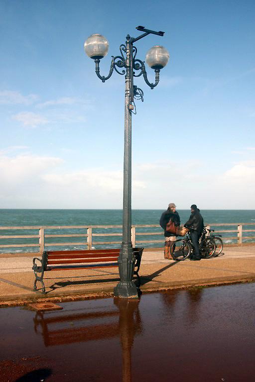 ailleurs mer plage vélo reflet