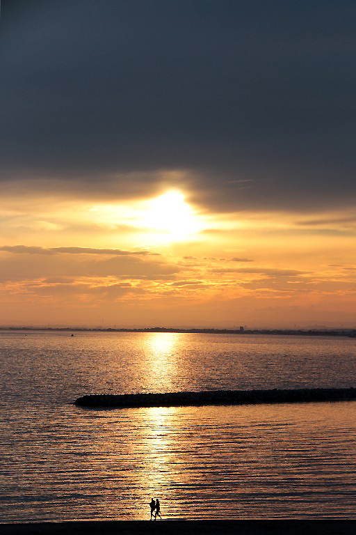 coucher-soleil ailleurs mer plage