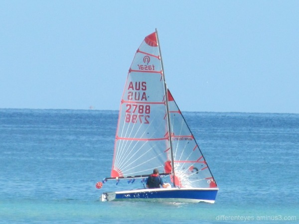 Boats offshore from Dromana beach