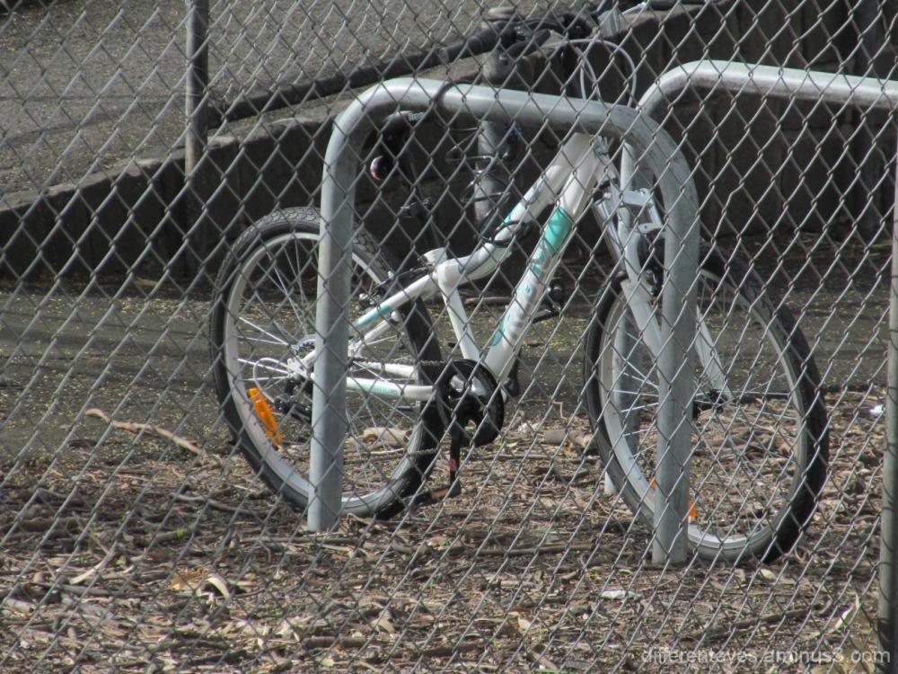 bike parked at Yarraman railway station