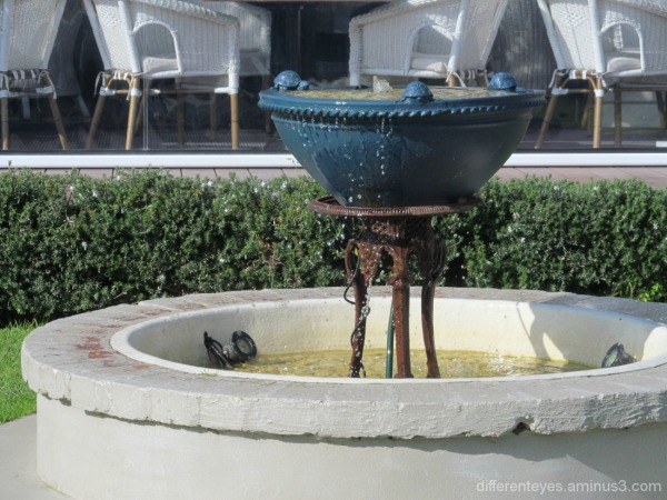 water feature at Pavilion restaurant in McCrae