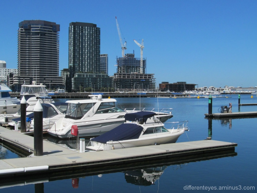 view of Melbourne's Docklands