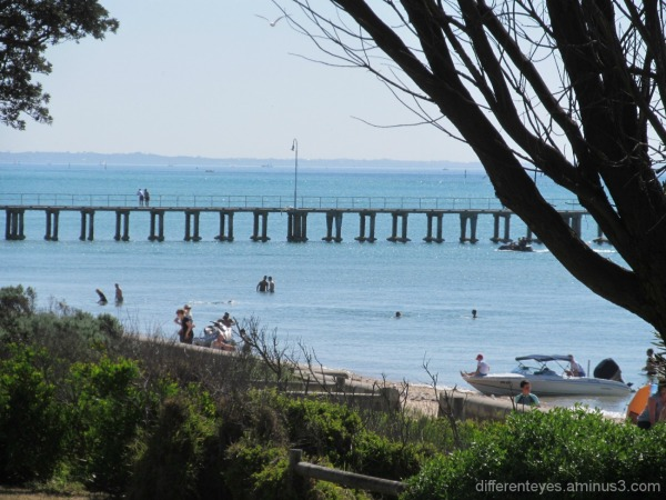 view of Dromana beach and pier
