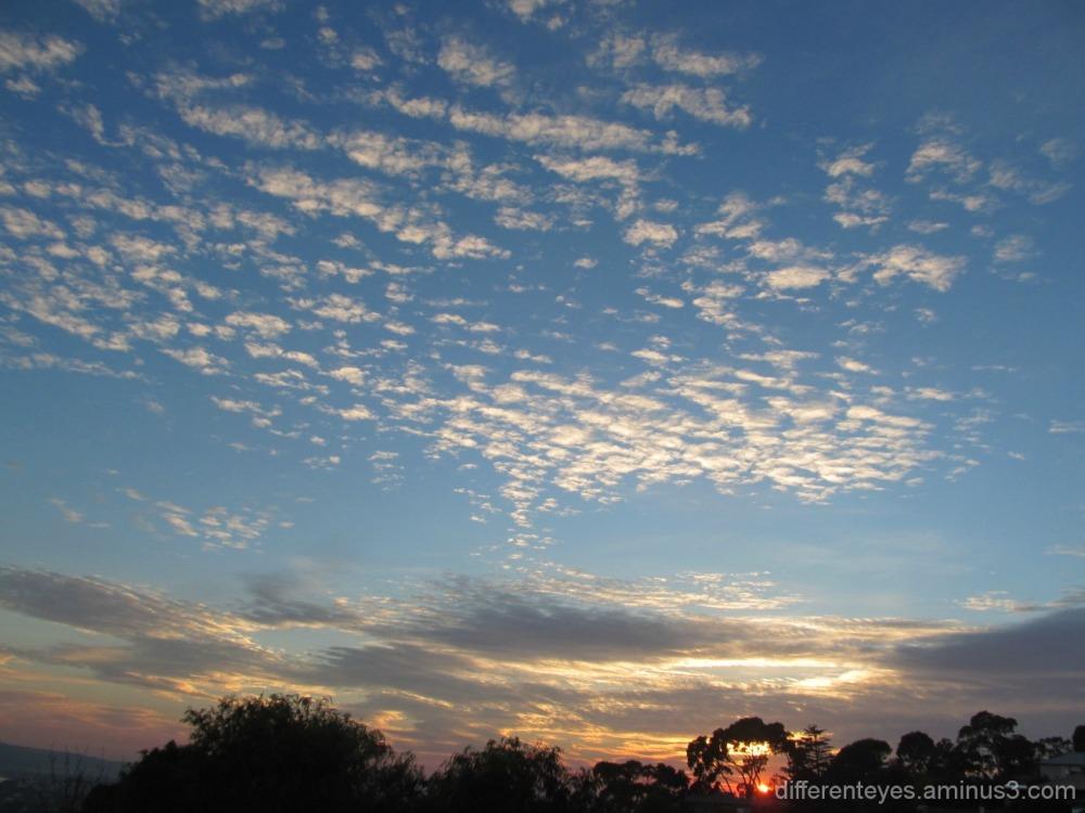 autumn morning skies in the Dromana Hills