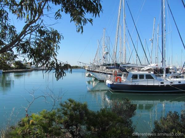 boat reflections at Hastings