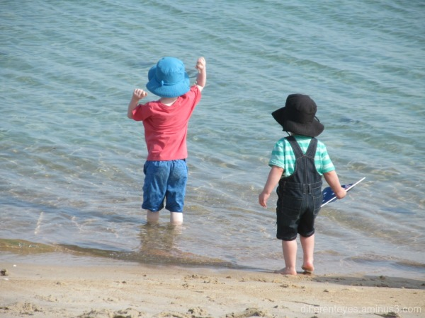 children on Australia Day in Dromana