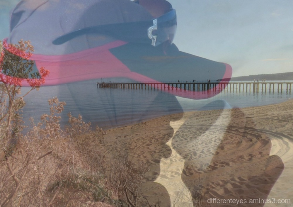 surreal view of woman at Dromana beach