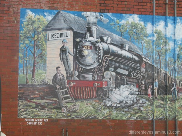 Red Hill mural by Simon White
