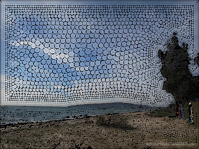 surreal view of a beach