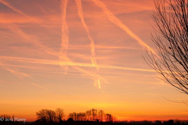 lijnenspel zonsondergang sunset lines