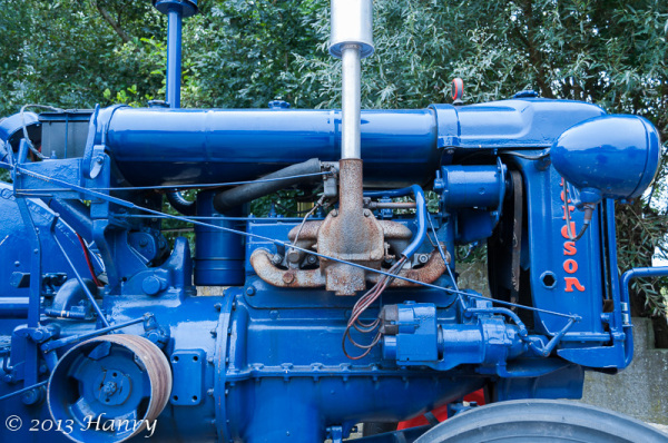 blauw tractor fordson blue