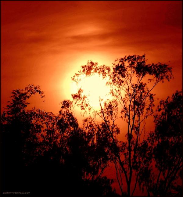 Red sky ...