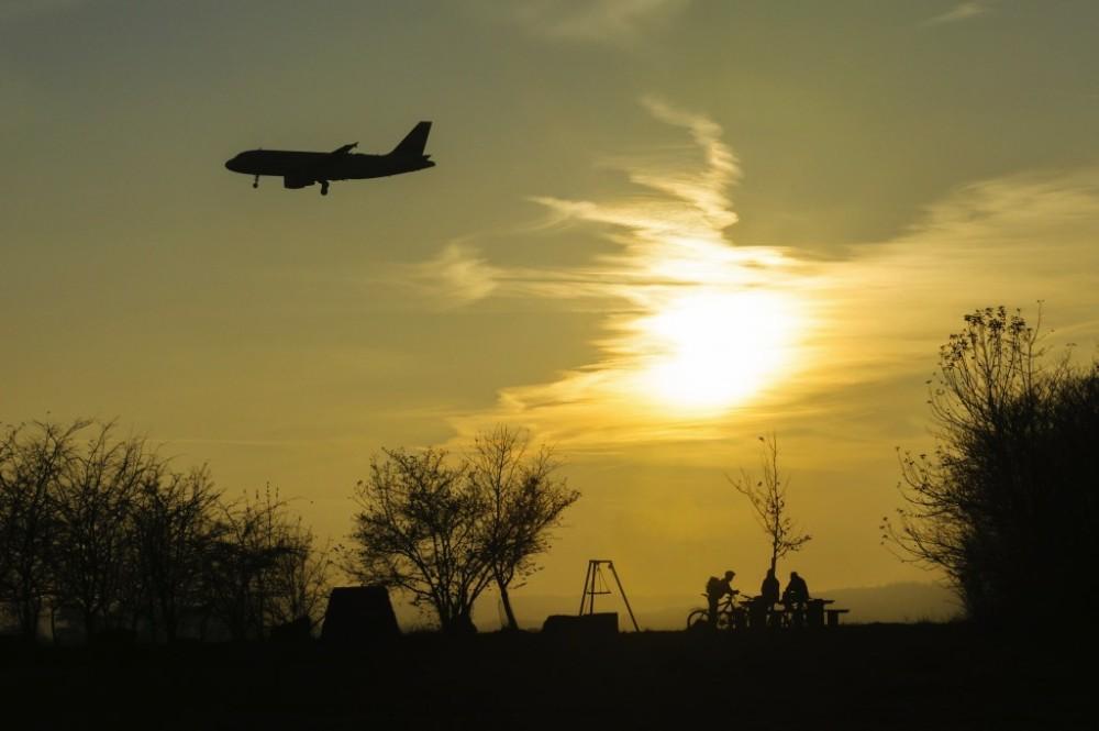 Ruhepause am Flughafengebiet,