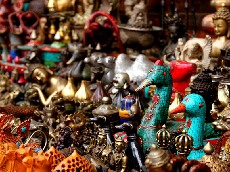 Handicrafts for sale, Kathmandu, Nepal