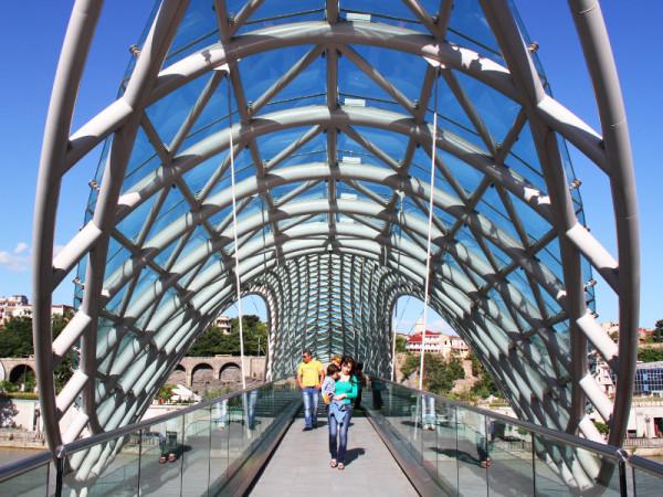 Peace Bridge, Tbilisi, Georgia