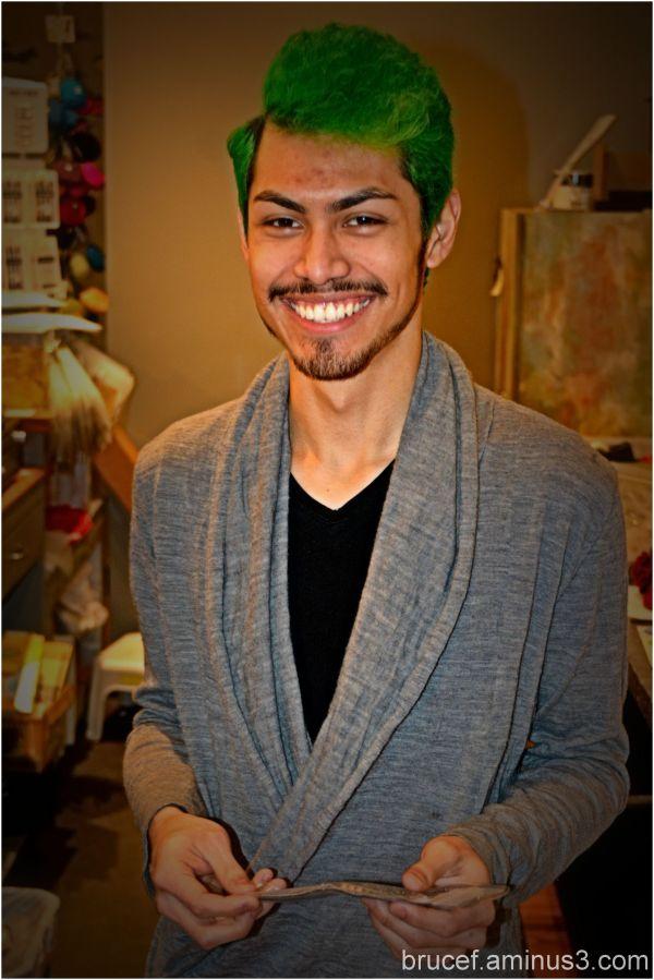 Green Hair sales clerk