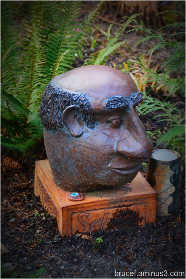 Garden head at Green River College