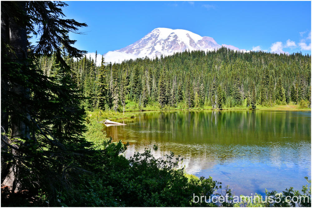 Mt Rainier and Reflection Lake
