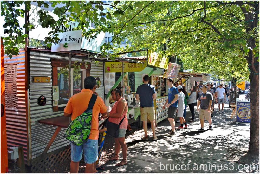 Summer day at the Food Trucks in Portland