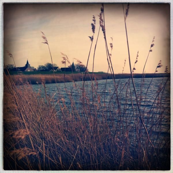 village dijk ijsselmeer riet