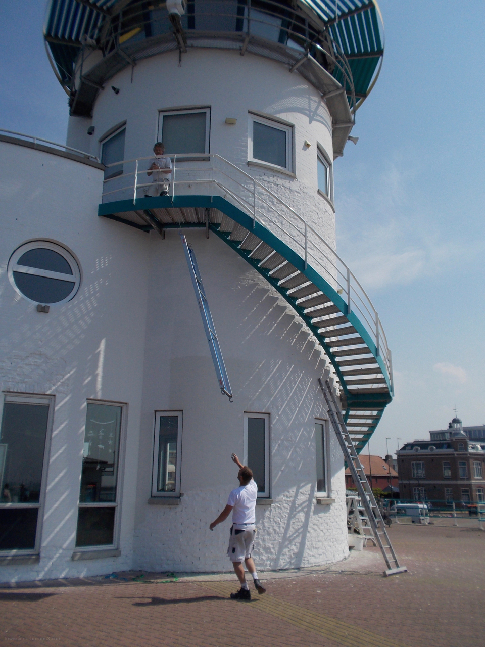 ladder maintenance lighthouse