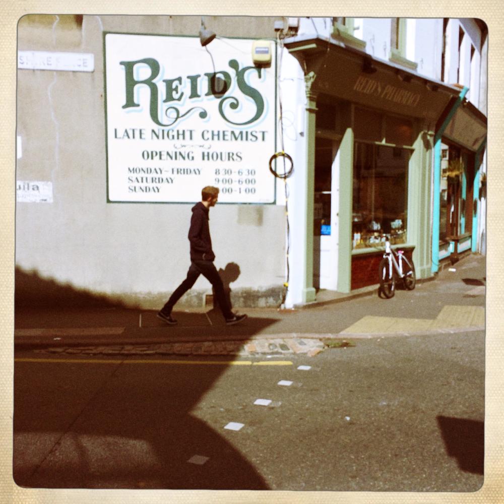 street photography chemist's Jersey St. Helier