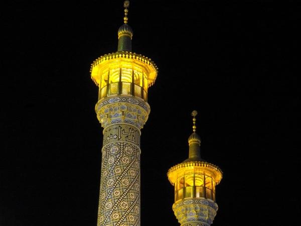 qom iran holy minaret