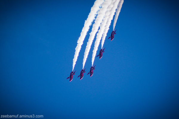 Red Arrows at Chatsworth