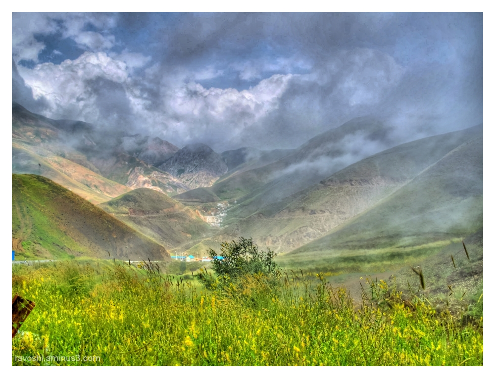clouds, mountains, HDR, nature