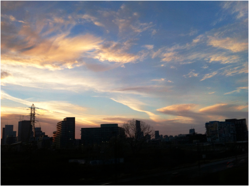 Winter skyline
