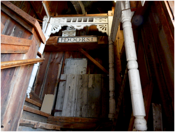 Doors are upstairs