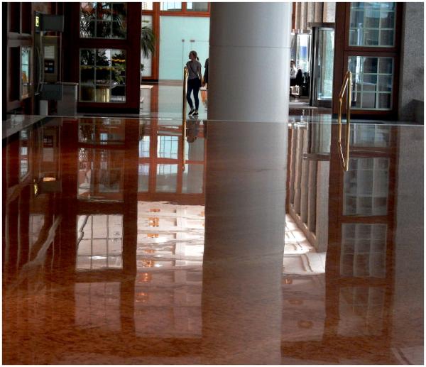 Very clean floors