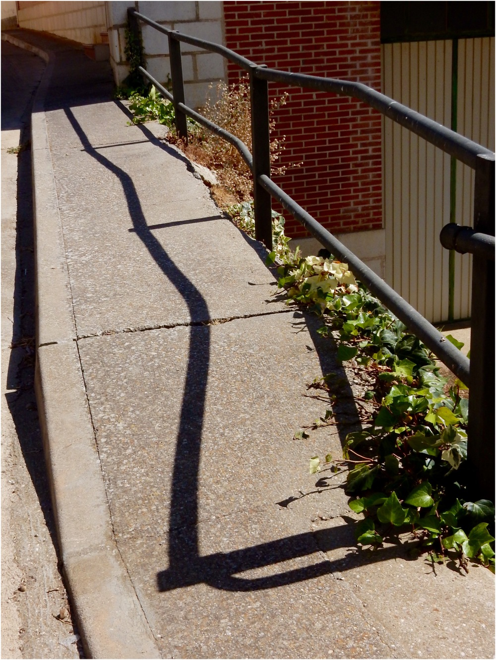 Crooked rails, crooked shadows
