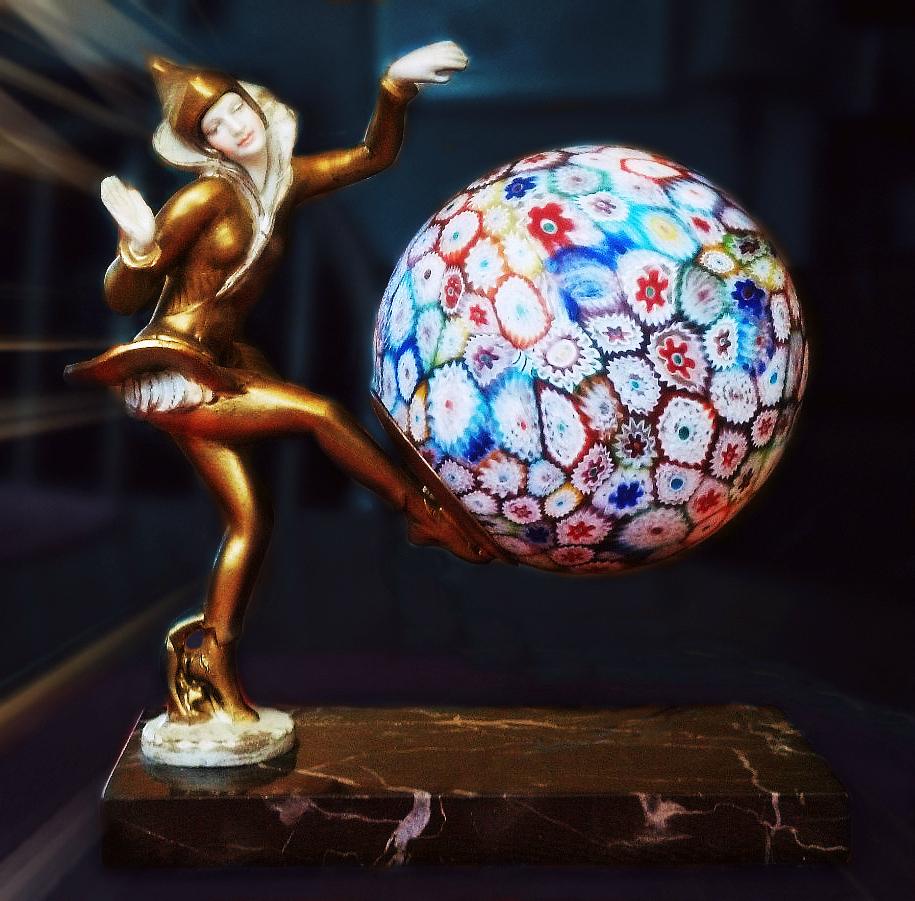 Pixie Lamp, Millefiori Glass - DANSEUSE DES INDES