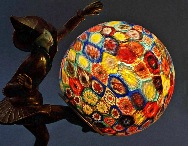 Ignacio Gallo Lamp with Millefiori Shade
