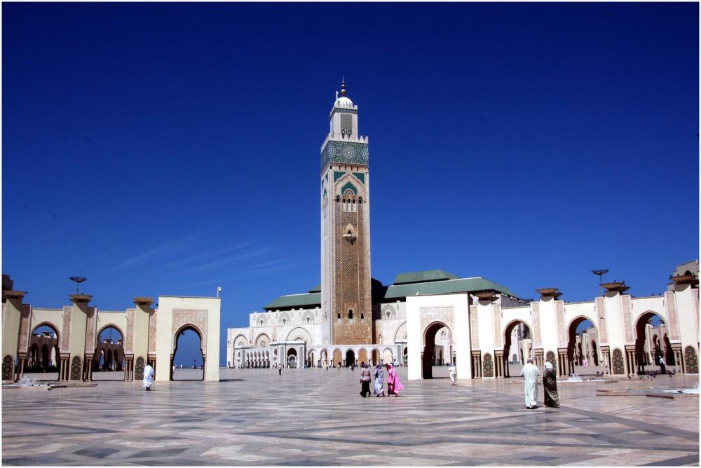 Mosquée Hassan II , pureté des lignes et du ciel
