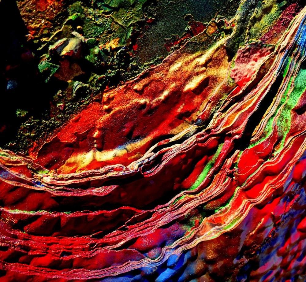 des couches  et des couches de couleurs