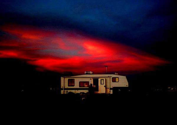 ma caravane dans le désert