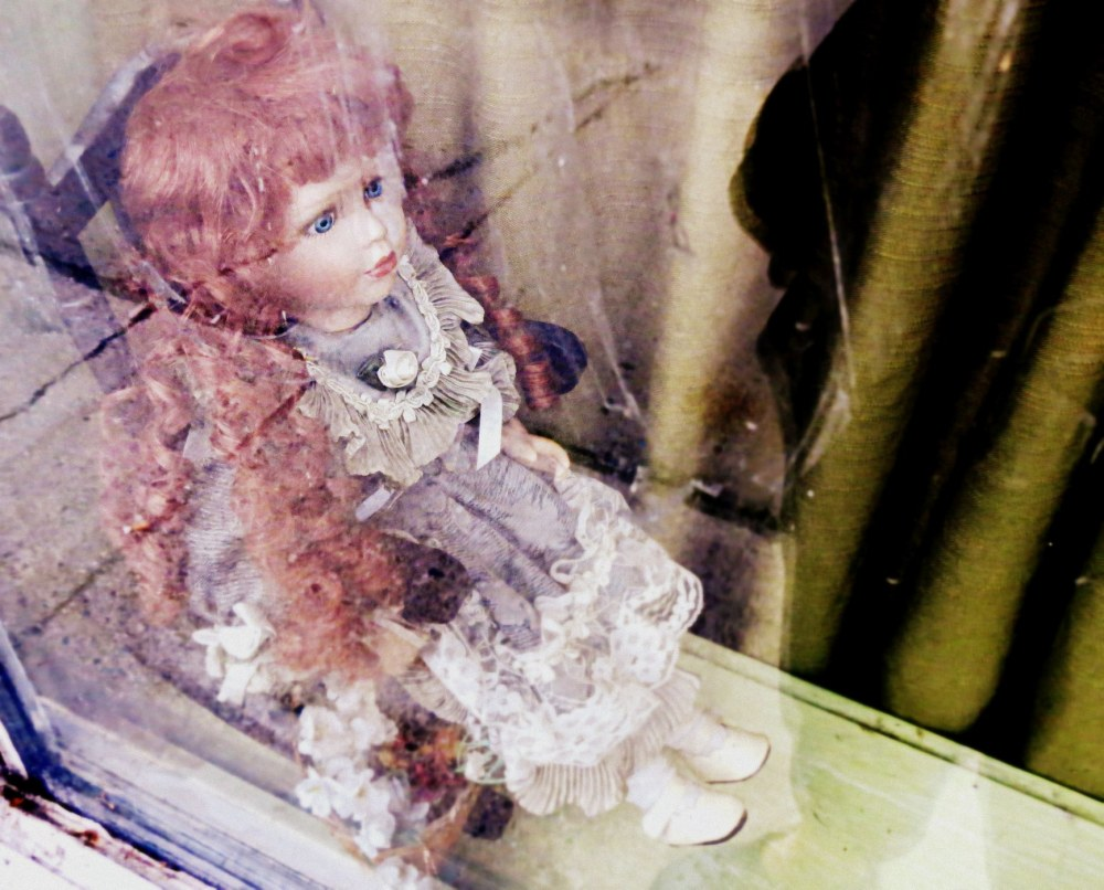spooky doll looking for a home