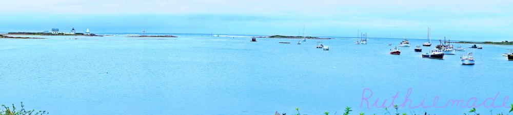 Maine seaport Panorama