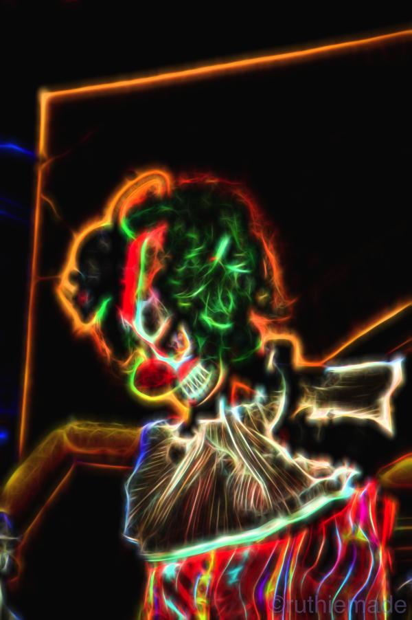 Halloween Evil Clown Scarecrow