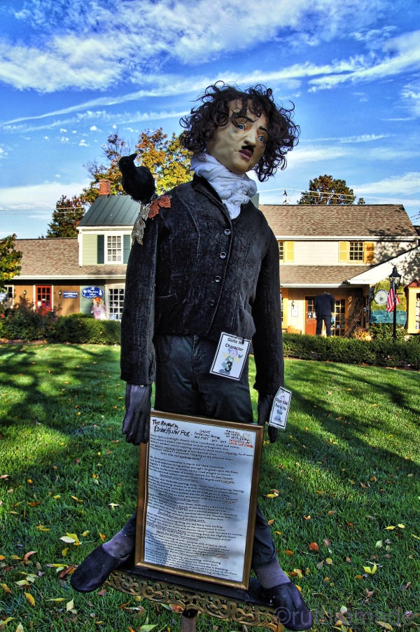 Edgar Allen Poe and Raven Scarecrow