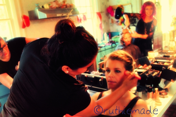 Getting Make up on