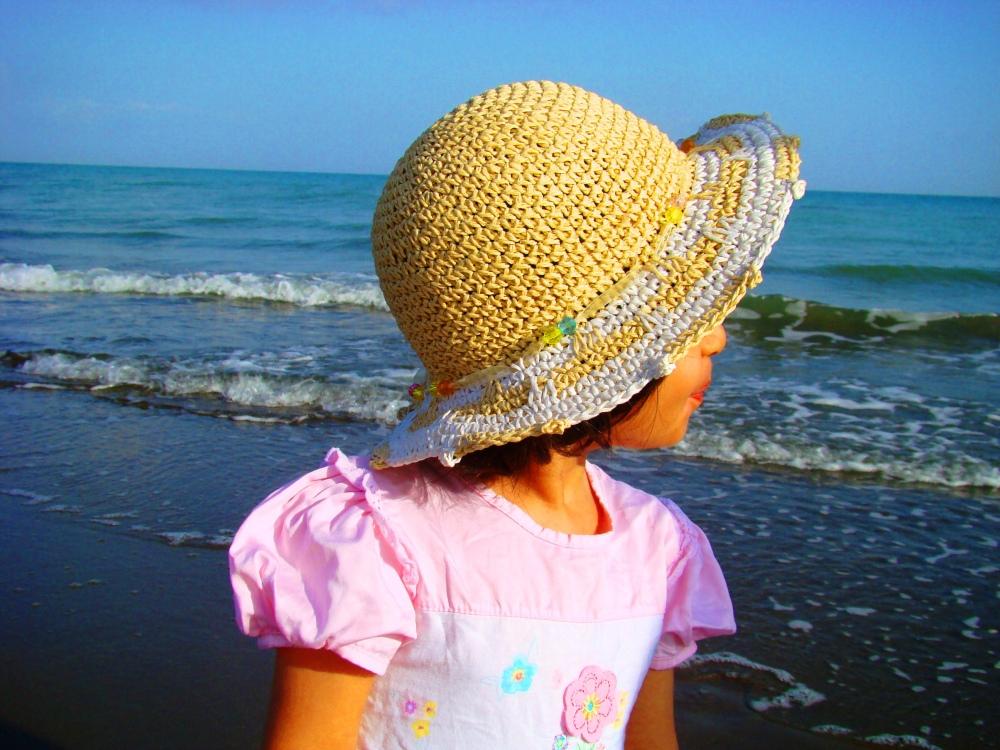 Sea, girl, Looking